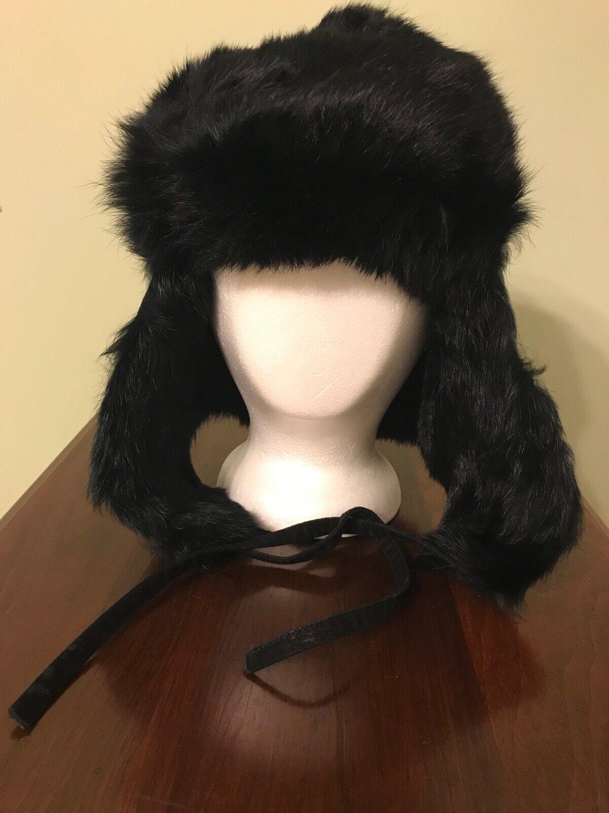 Vintage Black Mink Ladies' Hat with Flap Ear Muffs - image 9