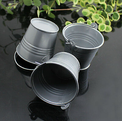 10 Pcs Metal Mini Buckets Pail Bucket Wedding Party Candy Favours Gifts 9 Colors