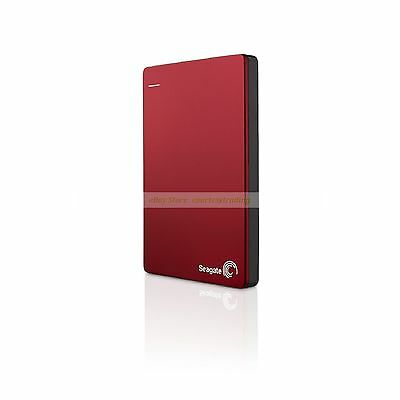 Seagate Red Ext HDD 2TB 2T Backup Plus Slim USB3.0 Portable External Hard Disk