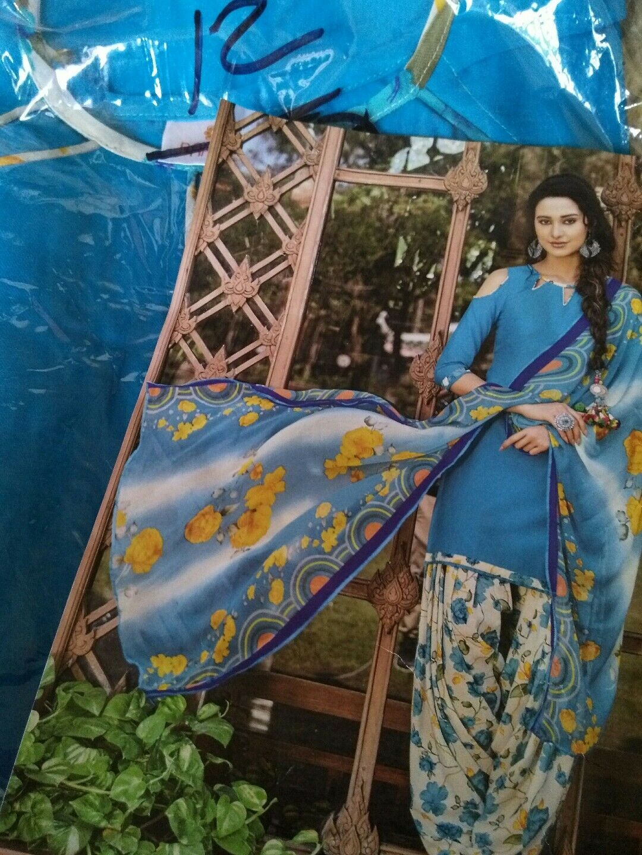 Indian Women Baanvi M-38 Party Wear Salwar kameez blueeTunic Palazzo Dress
