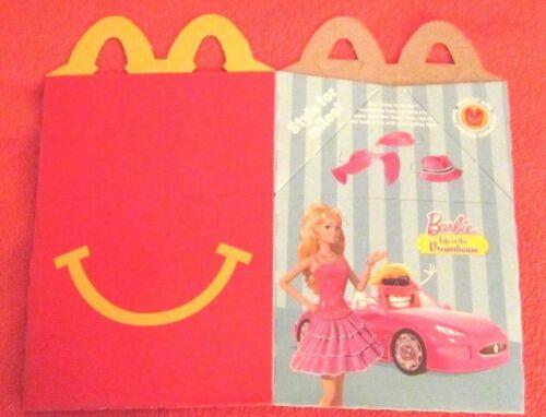 2015 McDonald/'s BARBIE LIFE IN DREAMHOUSE//HOT WHEELS,HAPPY MEAL BOX,NEW FLAT,HTF