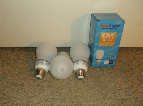 Qty 25 E29 Optolight 18W=75W OP-ALAMP CFL **Save over $6.00 Per Year Per Bulb**