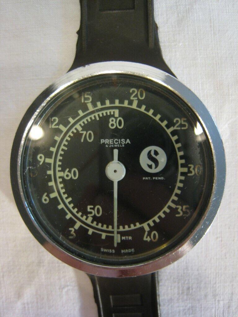 Scubapro Precisia Tiefenmesser - Swiss Made - 80er Jahre depth meter - 80 Meter