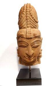 Tete De Shiva Sculptee En Gres - Inde Medievale 1100 Ad - Indian Sandstone Head