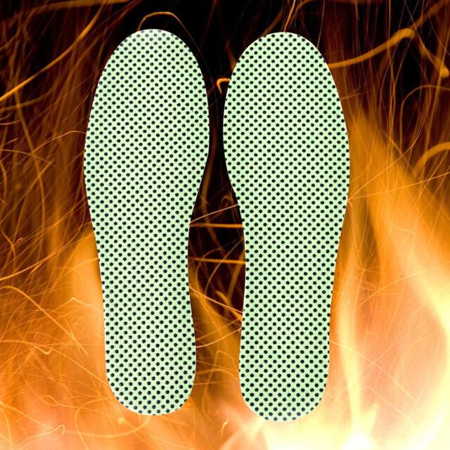 1Pair Green Warm Tourmaline Self Heated Shoes Insoles Insert Foot Cushion Pad FD