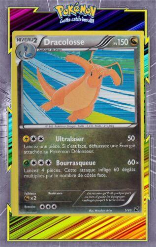 NB00:Coffre Des Dragons Dracolosse Holo 5//20 Carte Pokemon Neuve Française