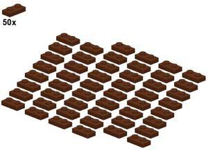 Used LEGO® - Plates - Reddishbrown - 3023-11 - 1x2 (50Stk) - Platte - Braun