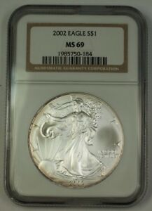 2002-American-Silver-Eagle-ASE-Dollar-1-Coin-NGC-MS-69-Nearly-Perfect-GEM