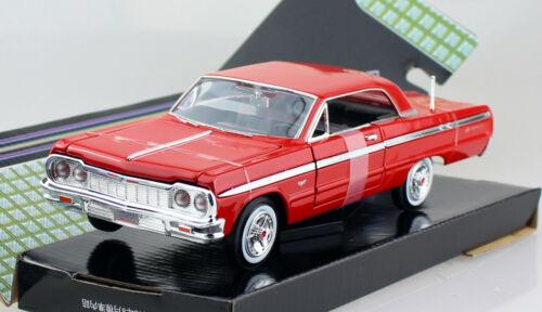 Chevy Chevrolet Impala ROSSO 1964 1:24 MOTORE MAX MODELLO DI AUTO 73259