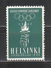 FP 92) Olympiade: Helsinki Vignette 1952 **, kleiner Gummifehler!2 Scans!