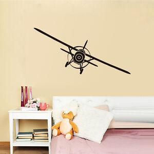 Aeroplane Vinyl Wall Sticker Removable Art Airplane Home