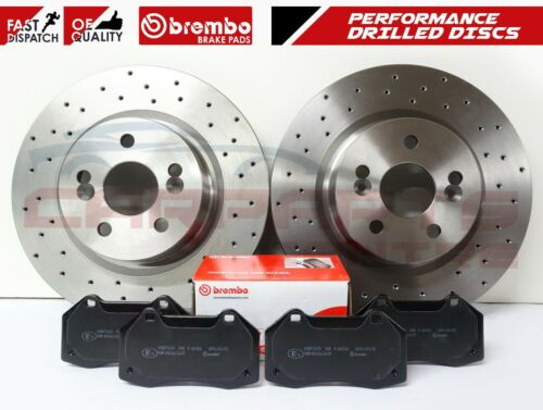 FOR RENAULT MEGANE 2.0 SPORT F1 RS R26 230 FRONT AXLE DRILLED BRAKE DISCS PADS