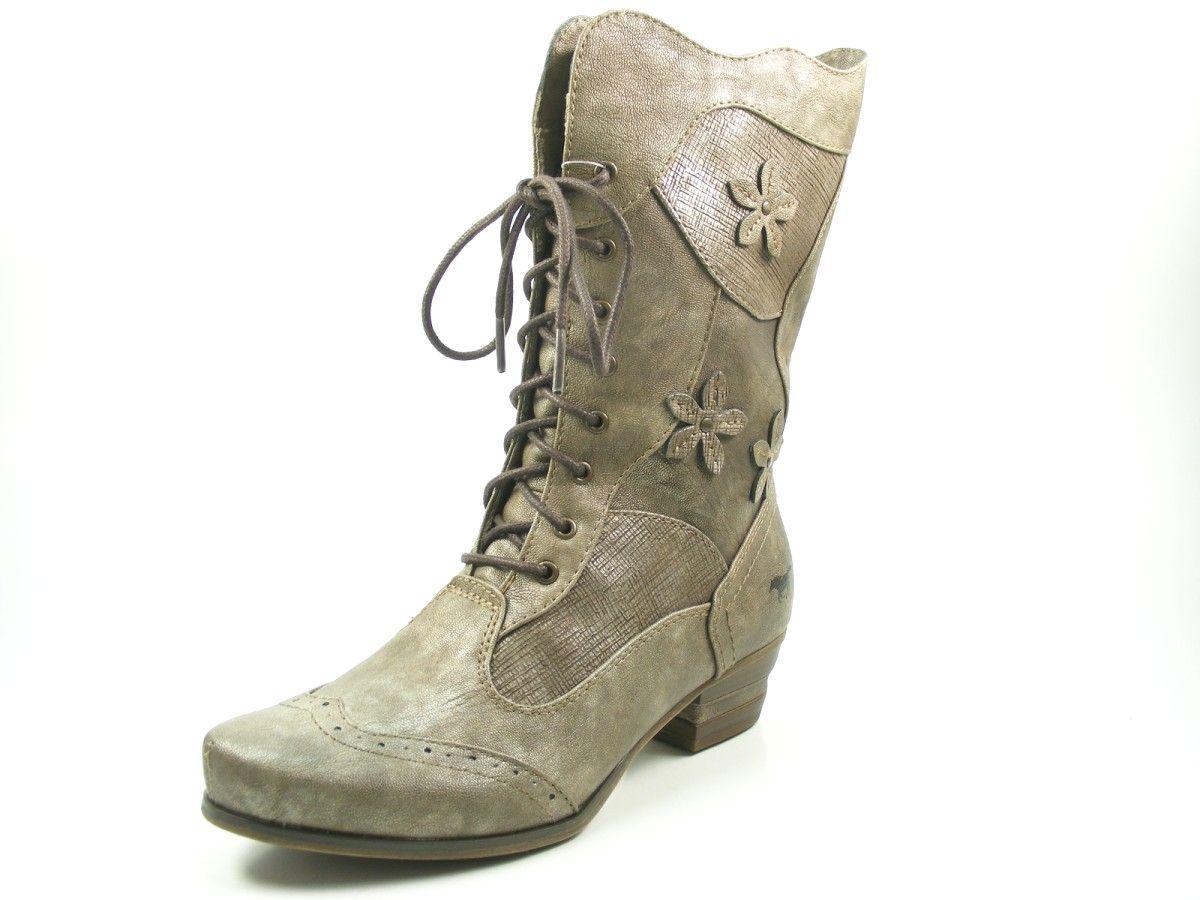 Mustang 1187-517-221 Schuhe Damen Stiefeletten Ankle Stiefel