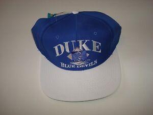 eeb5b592d73 Image is loading DUKE-BLUE-DEVILS-DEADSTOCK-VINTAGE-90S-SCRIPT-HAT-