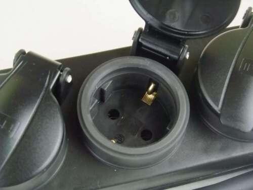 4 fach Steckdosenleiste sw Mehrfachsteckdose H07RN-F IP44 Mehrfachstecker Schuko