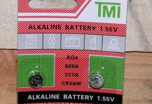 4x 1,55Volt Knopfzellen Uhren Uhr batterie AG4 377A LR626 LR66 Alkaline T/&E