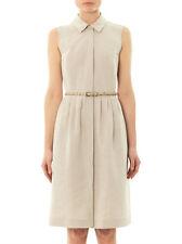 MAX MARA Studio Beige Cotton and Flaxlinen Dress 6 USA,8 GB, 40 I, 36 D, 38 F