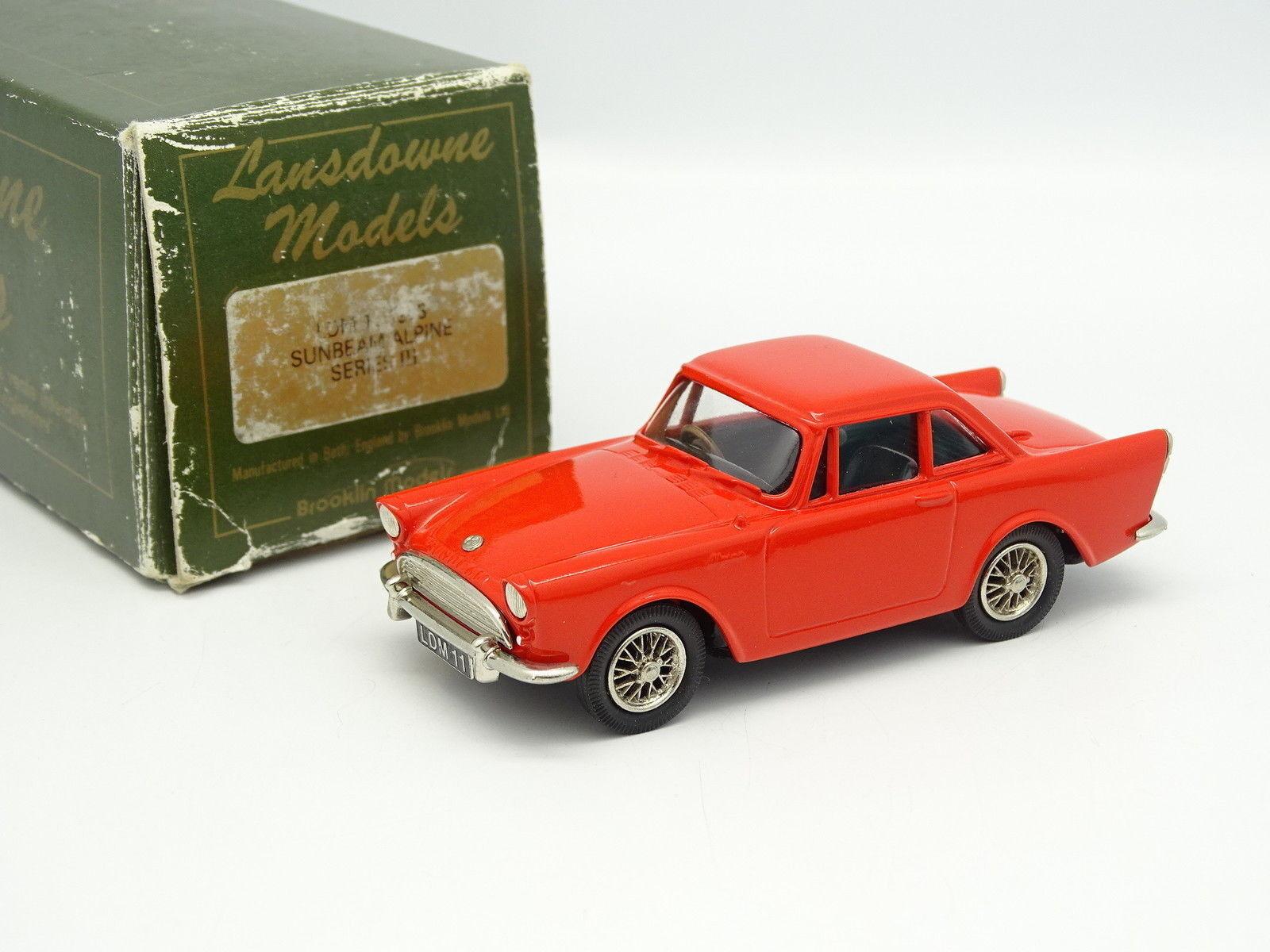 Lansdowne Modelle 1 43 - Sunbeam Alpine Serien III 1963