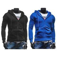 Men's Stylish Slim Fit Warm Hooded Hoodie Coat Sweatshirt Zip Up Jacket Outwear