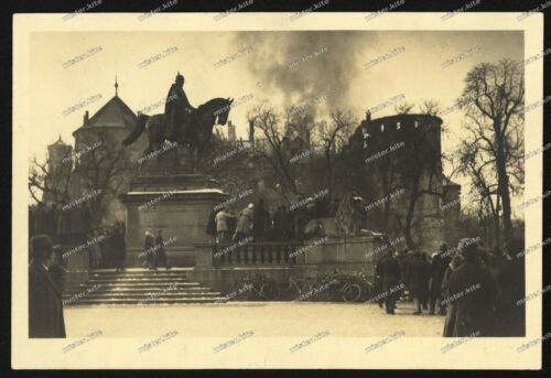 Foto-AK-Stuttgart-Innenstadt-Brand-Altes-Schloss-1931