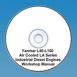 yanmar l40 l100 air cooled la series diesel engine workshop manual rh ebay co uk yanmar l100 maintenance manual yanmar l100ae service manual
