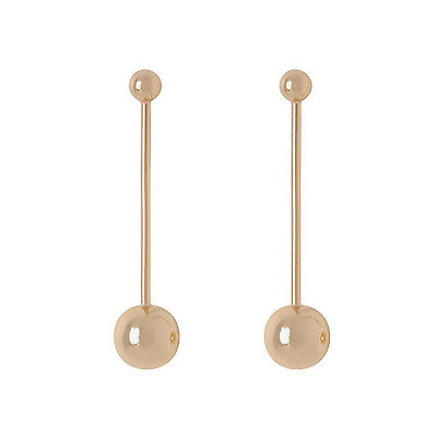 NEW Wayne Cooper Ball Stick Earrings Rose