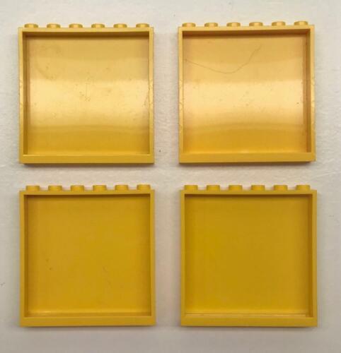 4 Lego Yellow Wall Panels Lot 1x6x5 59349 house