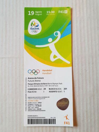 Used Sammler Ticket Olympic Games 2016 Olympia F41 Handball Germany France Semi