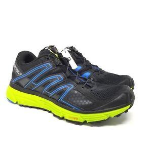 478fb3e30b Details about Salomon X-Mission 3 Men's Trail Running Shoe Black Blue Green  Size 7
