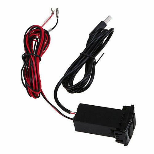 X205 Dual USB Socket Port  Dashboard Charger Audio Input USB Charger Fit Mazda