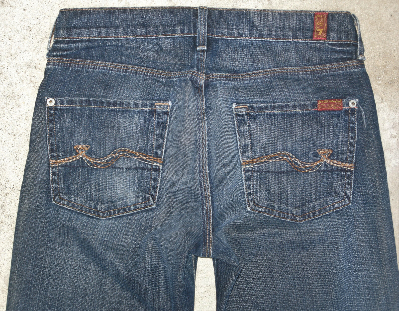 7 For all Mankind Slimmy Jeans Mens Sz 29 X 27 Skinny 100% Cotton