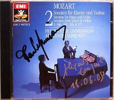 Frank Peter Zimmermann, Lonquich SIGNED Mozart Violin Sonata vol.2 CD Alexander