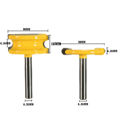 2Pcs 1//4/'/' Shank Canoe Flute and Bead Router Bit Cutter Woodworking Tool/_DM