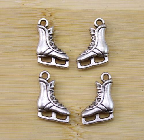 20//50//100 pcs Retro style Zinc alloy ice skates charms Pendants  17X12 mm