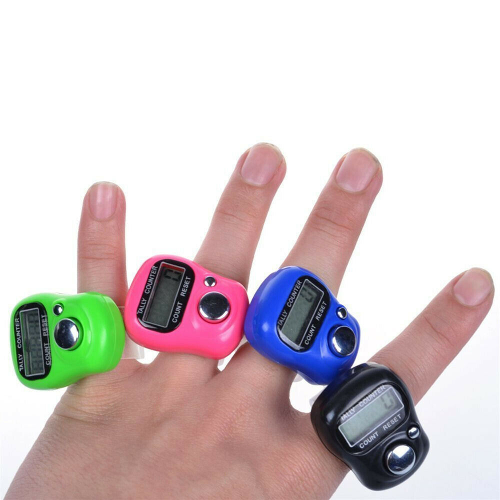 Digit Digital LCD Screen Electronic Finger Hand Ring Knitting Row Tally Counter