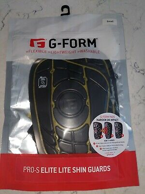 G-Form Pro S Elite Adult Soccer Shin Pads Lists@ $50 NEW Guards Black,Yellow