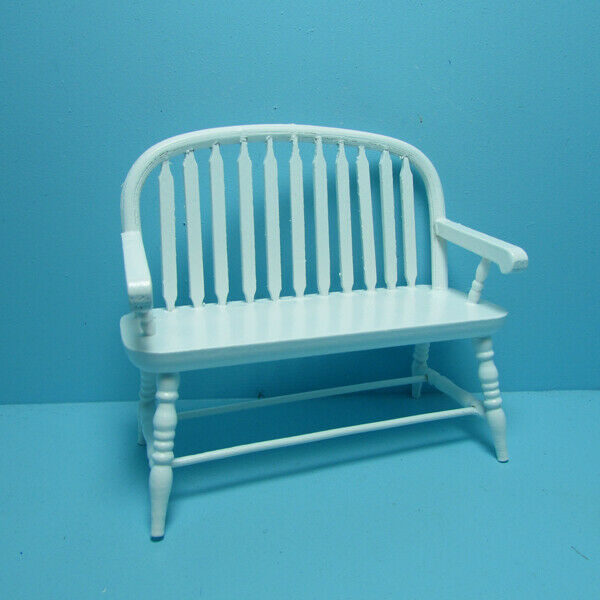 Lutyens Wood Garden Bench In White For Sale Online Ebay