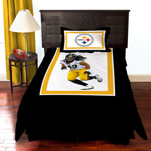 Image Is Loading New Gshots Pittsburgh Steelers Troy Polamalu Bedding Comforter