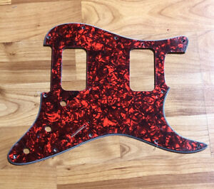 NEW-Red-Pearloid-HH-Stratocaster-PICKGUARD-for-Fender-Strat-Humbucker-Pickups