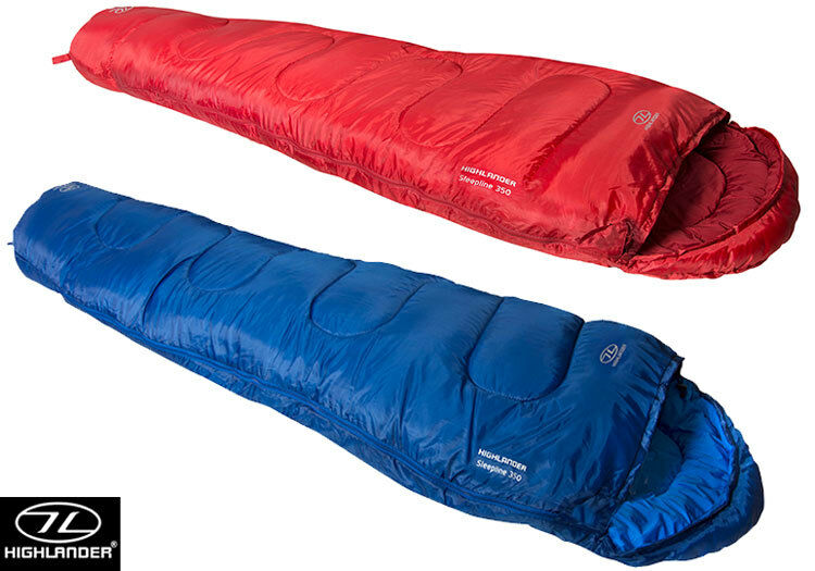 Highlander Sleepline 350 Mummy Sleeping Bag Adult 2-3 Season Travel Camping New