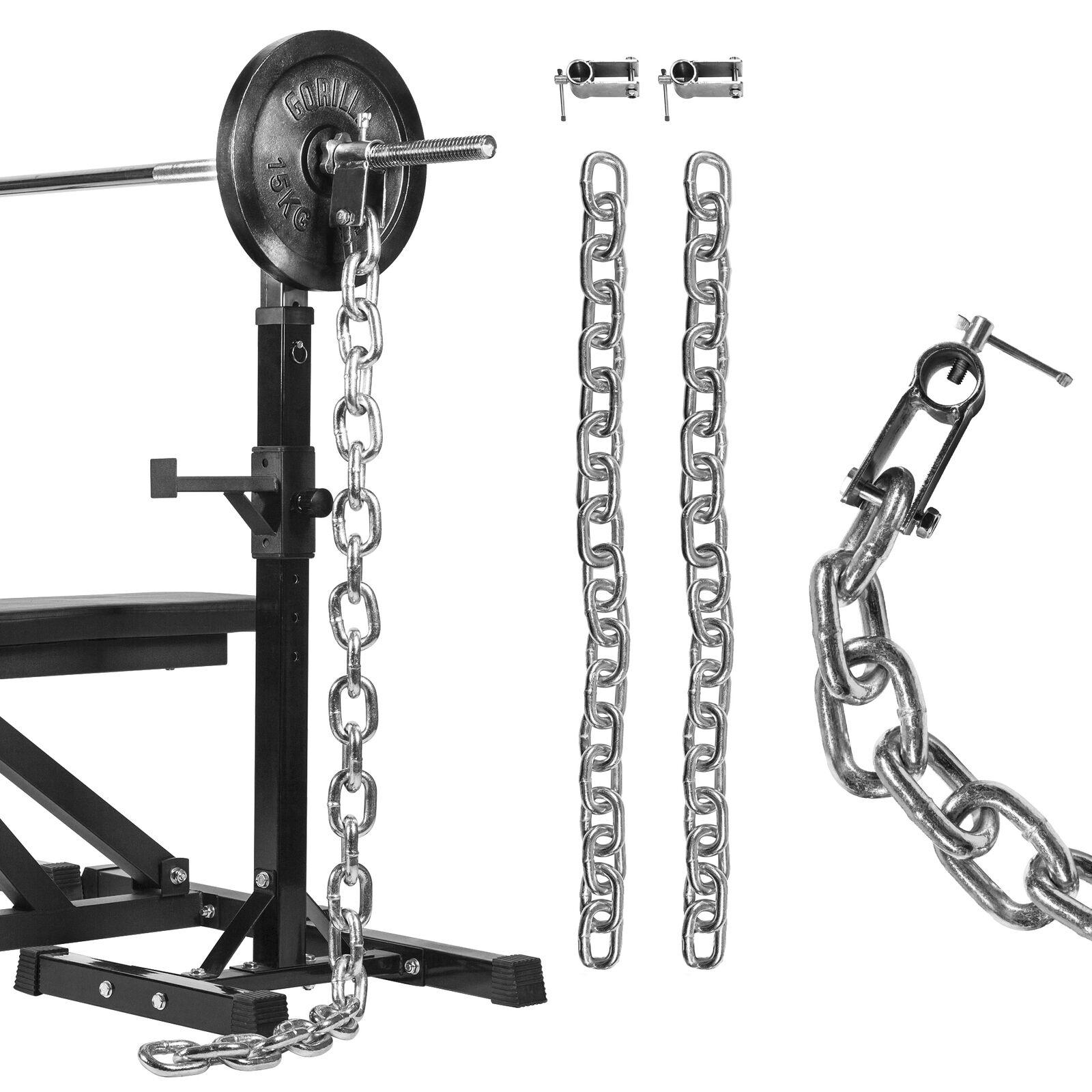 Gorilla sports Gewichtsketten Set Cromo 1632 KG