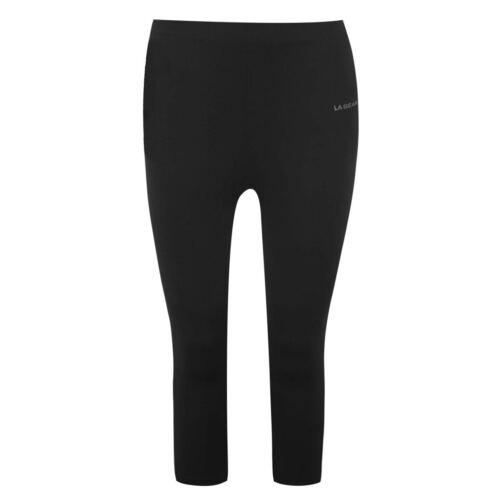 LA Gear Womens three quarter Capri Leggings Capris Pants Trousers Bottoms