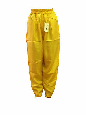 Unisex 100% Silk Harem Balloon Pants High Waist Long Casual Trousers Multicolors
