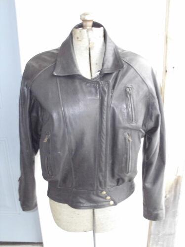 dans M de cuir veste femmes Motocycliste des manteau de laiton fermetures glissière en Sz à de porté Protech en le moto qSOzR