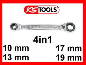 10x19-13x17 4 in 1 Gearplus Doppel-Ratschenringschlüssel KS Tools 503.4565