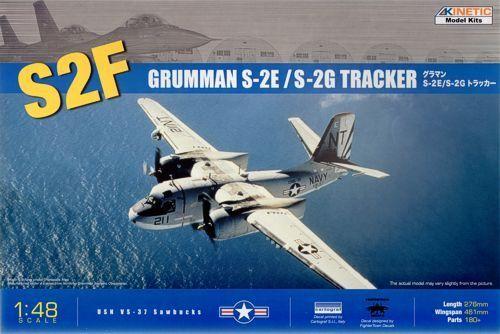 Obtén lo ultimo Kinetic 1 1 1 48 Grunman S-2E S-2G Tracker  48024  barato y de alta calidad