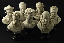 Statue Busti di Leonardo, Michelangelo, Raffaello, Machiavelli, Galileo e altri