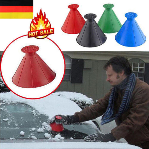 DE Outdoor Trichter Windschutzscheibe Snow Remover Car Kegel geformt Eiskratzer