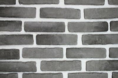 Ehrgeizig 10m² Klinker Riemchen Verblender Ziegel Verblendstein Innen & Außen Grau