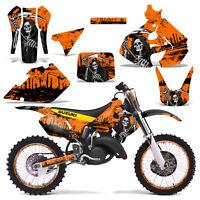 Suzuki Rm125 Graphics Kit Dirt Bike Decals Sticker Wrap Rm 125 99-00 Reap Orange